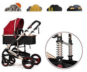 shock absorption of infant prams
