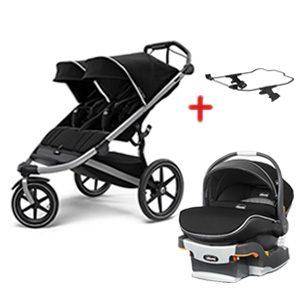Thule Urban Glide 2 Double Stroller w/ keyfit 30